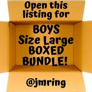 Boxed Bundle Lot of Boys Large Sweaters & Pant